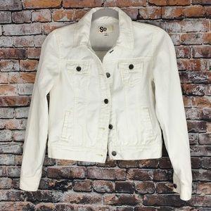 White Jean Jacket, Women's SO, Size M